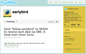 @earlybird catches the worm